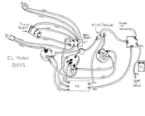 small resolution of el toro e bass wiring diagram hand drawn by paul gagon