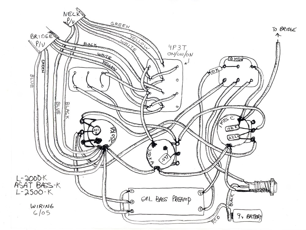 medium resolution of g l wiring diagrams and schematics g l guitar wiring diagram