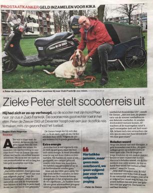 stentor zieke peter stelt scooterreis uit bassettour kika