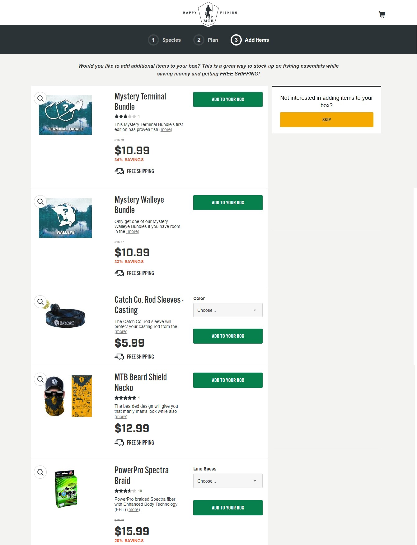 best fishing tackle box subscription