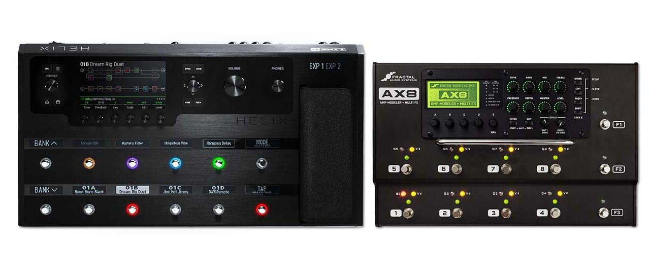 Fractal Audio Systems AX8 and Line 6 Helix –