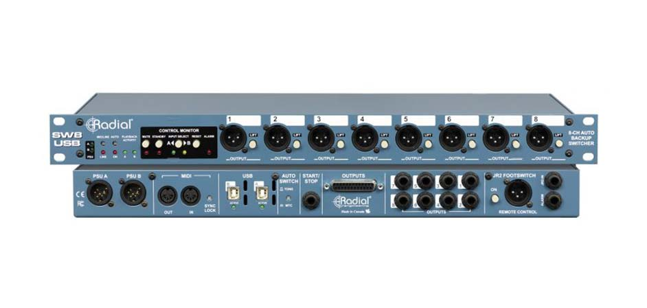 Radial Engineering News: SW8-USB Auto-Switcher and USB