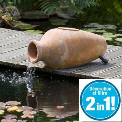 2 en 1 cascade et filtre de bassin amphora ubbink 3000 l