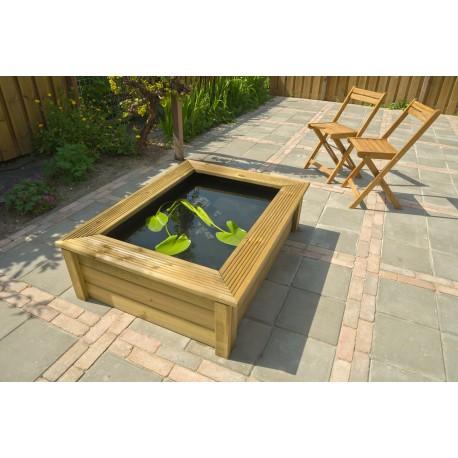 bassin de jardin en bois quadro wood 2 ubbink