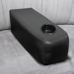 Sofa Armrest With Cup Holder How To Decorate A Table Against Wall For Arm Www