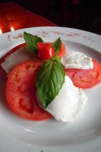 Vegetarian caprese salad italian cuisine