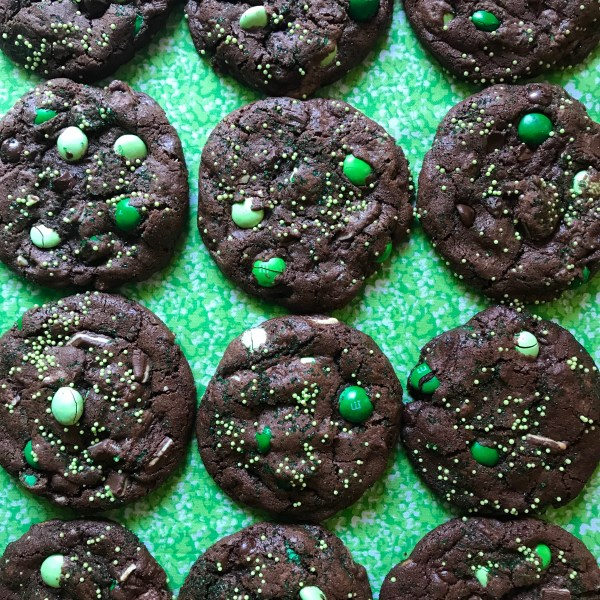 Chocolate Mint M&M Cookies