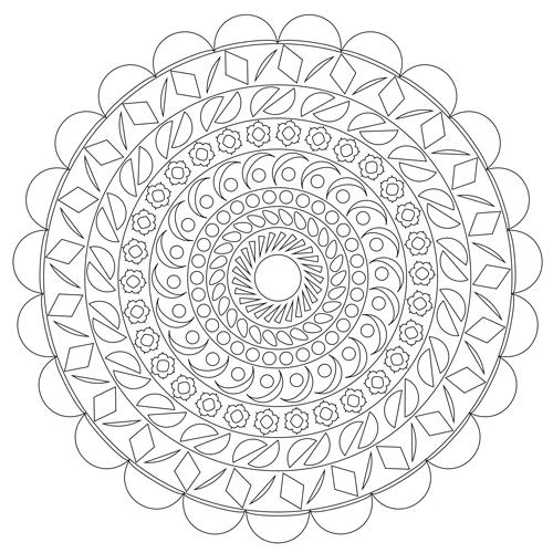 DIY Mandala Vorlagen Kostenlos Zum Ausdrucken Basteln