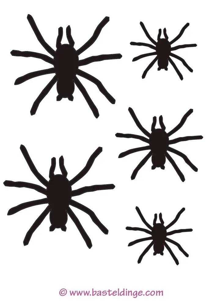 Spinnen Vorlagen - Basteldinge