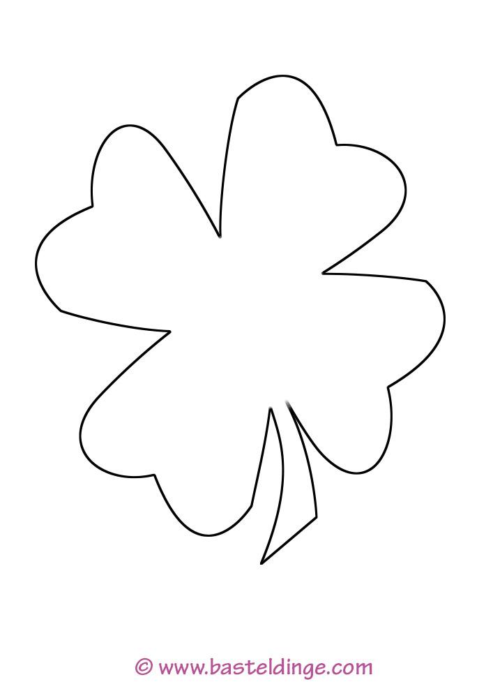 Kleeblatt Schablone Zum Ausdrucken