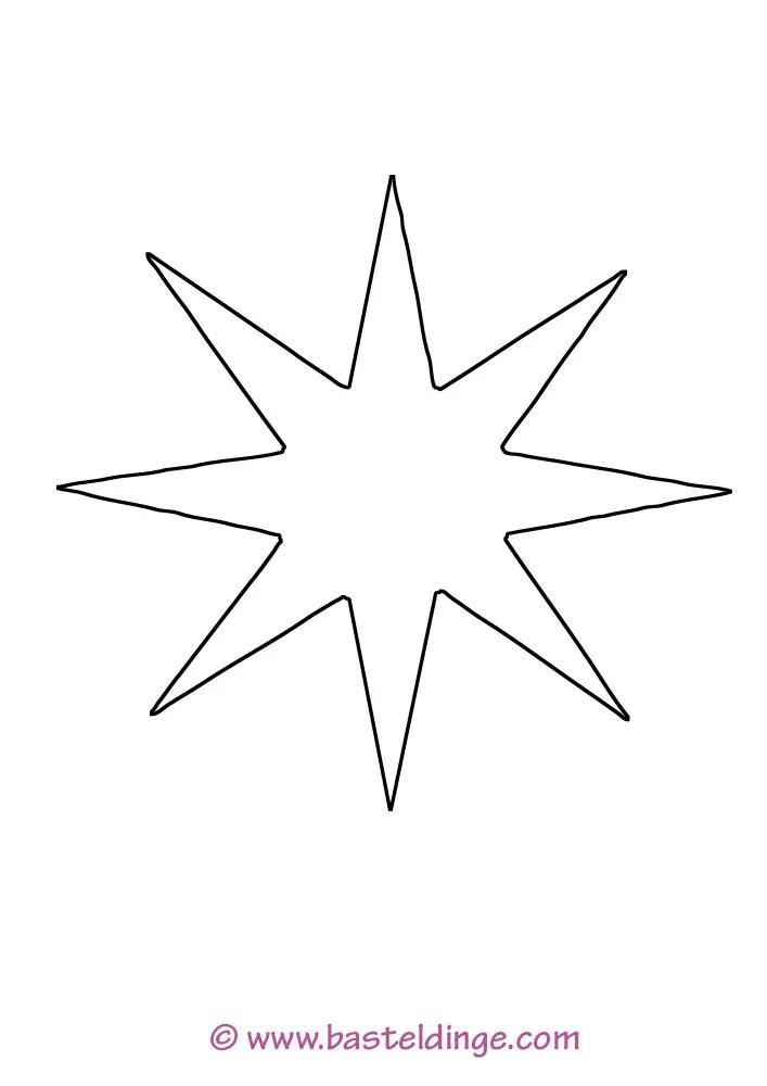 Sternchen und Sterne Vorlagen - Basteldinge