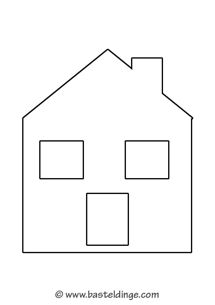 Fensterbilder Huser Vorlagen Basteldinge