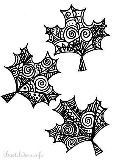 Herbstblätter Malvorlage Ausmalbild für Erwachsene