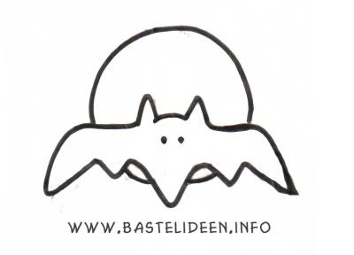 Kostenlose Bastelvorlagen - Malvorlagen - Halloween Fledermaus