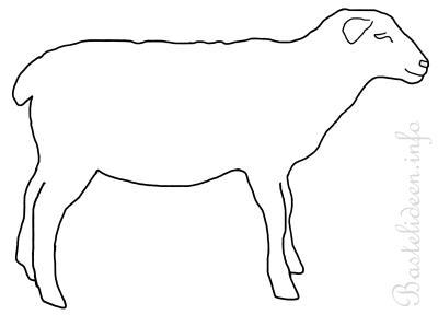 Frühlingsbasteln - Schaf Malvorlage oder Bastelvorlage
