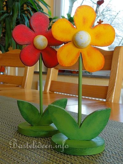 Frhlingsbasteln  Laubsgearbeit  Frhliche Blumen