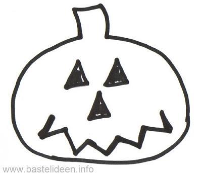 Kostenlose Malvorlage - Halloween - Kuerbisgesicht Malvorlage