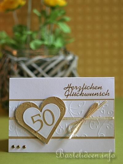 Grusskarte zur Goldenen Hochzeit