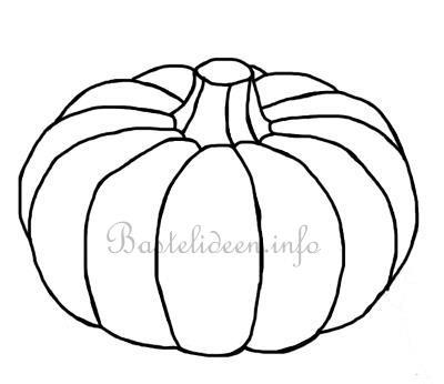 Herbstbasteln - Kürbis Bastel- oder Malvorlage