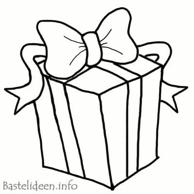 Kostenlose Malvorlage oder Ausmalbild - Weihnachtsgeschenk