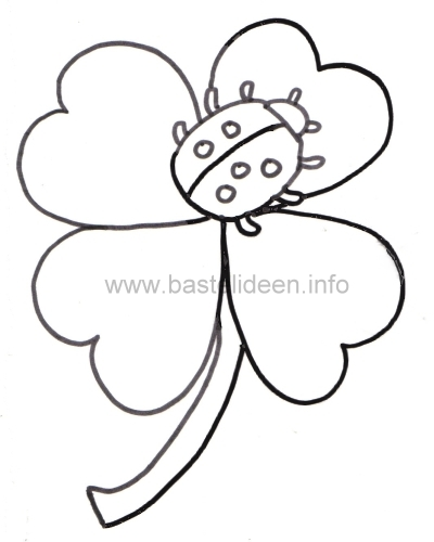 Kleeblatt Malvorlagen (template) Pinterest - Ausmalbilder