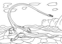 Ausmalbilder - Dinosaurier 7 Basteln & Gestalten