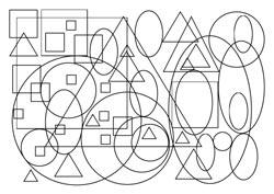 Malvorlagen Kreise Dreiecke Quadrate Ellipsen