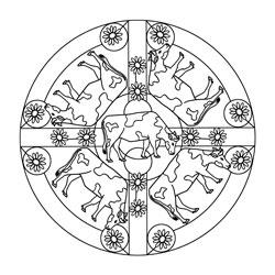 Pferde Mandala Basteln Amp Gestalten