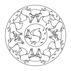 Pferde - Mandala Basteln & Gestalten