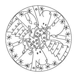 Mandala Vorlagen Fr Weihnachten Basteln Amp Gestalten