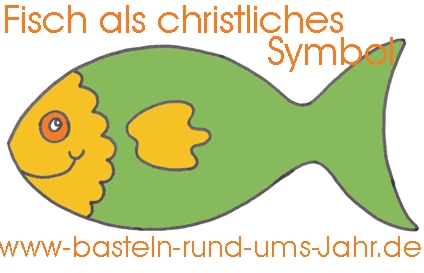 Christliches Symbol Fisch zur Kommunion als Dekoration