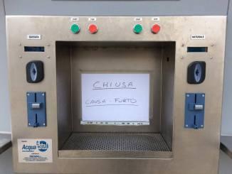 Fontanella acqua Bastiola chiusa per furto al distributore
