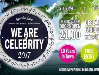 A Bastia Umbra torna WE Are Celebrity, sabato 1 luglio ai Giardini Pubblici