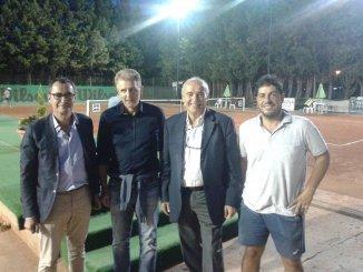 Da sinistra: il presidente Metelli, il segretario Paparelli, il giudice arbitro Malizia ed il gestore Bertolini.
