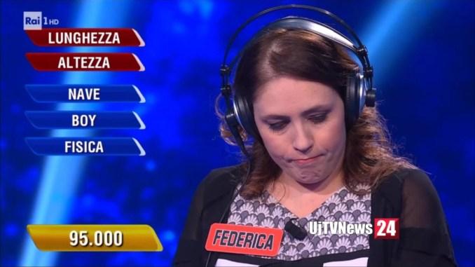 Federica Sannella per la seconda volta è campionessa all'Eredità, ma alla ghigliottina...
