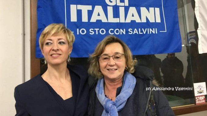 Catia Degli Esposti e Francesca Mele, incontro tra candidate sindaco leghiste Bastia Marsciano
