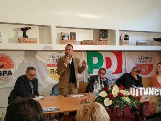 Elezioni, Lucio Raspa, centrosinistra, inaugura sede comitato elettorale