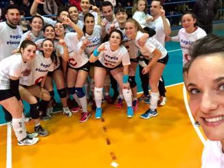 Bastia Volley, promozione in serie C, le ragazze festeggiano