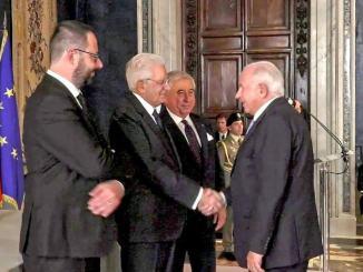 Carlo Giulietti, presidente Isa, insignito dell'onorificenza di Cavaliere del Lavoro