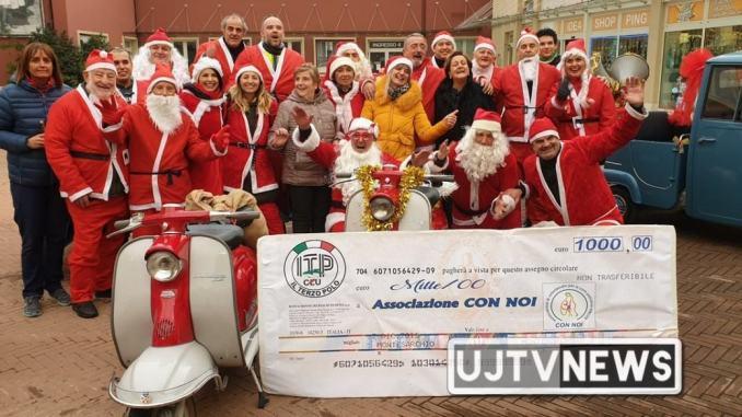 La leggenda dei 100 Babbi Natale 2019, donazione di mille euro