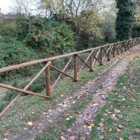 Conclusi i lavori ai tratti di staccionata danneggiatalungo il percorso verde