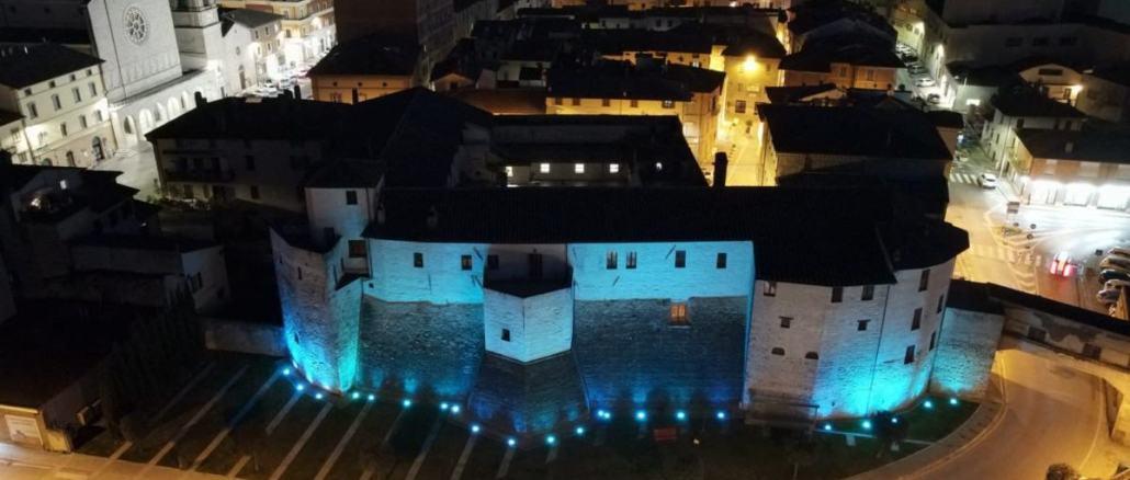 Festa dell'Europa 8-9 maggio, illuminazione monumento colore blu