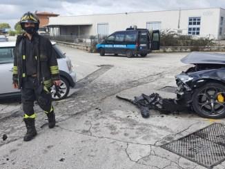 Scontro frontale in via dei Tigli a Bastia Umbra, tre feriti, anche bimbo di 11 anni