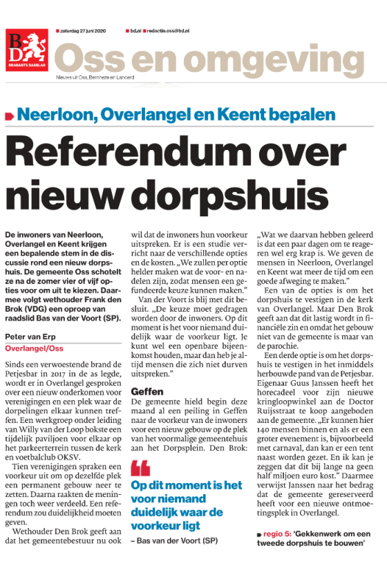 Referendum: Neerloon, Overlangel, Keent