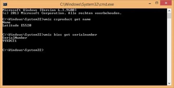 find serialnumber cmd