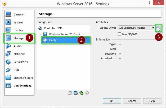 VM settings 2