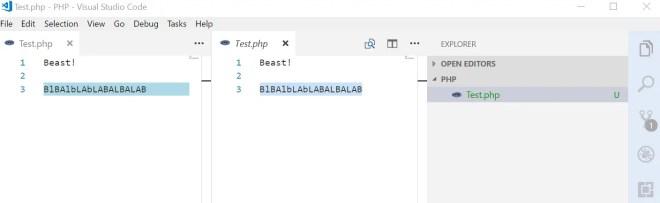 Compare Visual Studio Code