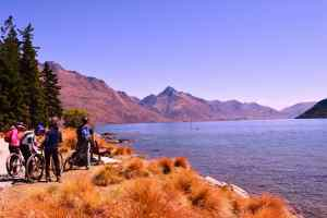 View from the Botanic Garden in Queenstown