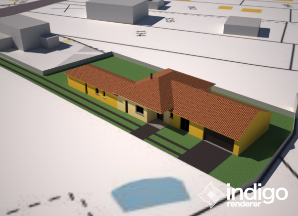 Construction maison – La Baule (44) – Vue 3D