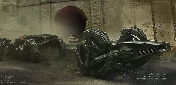 Batcycle Inne Pojazdy Na Concept Artach Justice League Batcave